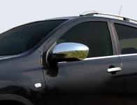 Накладки на зеркала (2 шт, пласт.) - Nissan Qashqai (2007-2010)