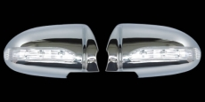 Накладки на зеркала LED (2 шт, пласт) - Hyundai Accent (2006-2011)