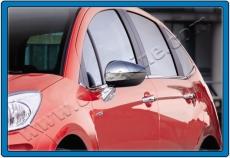 Накладки на зеркала (2 шт., нерж.) - Citroen C-5 (2008+)