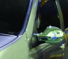 Накладки на зеркала (2 шт, нерж.) - Renault Clio-Symbol (2009-2012)