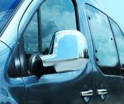 Накладки на зеркала (2 шт, пласт) - Peugeot Partner Tepee (2008+)