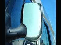 Накладки на зеркала (2 шт, пласт) - Ford Transit (2003-2014)