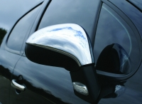 Накладки на зеркала (2 шт, нерж) - Peugeot 207 (2006+)