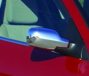 Накладки на зеркала (2 шт, пласт) - Renault Scenic (2005-2009)