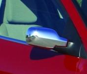 Накладки на зеркала (2 шт, пласт) - Renault Megane II (2004-2010)