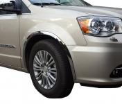 Накладки с нержавейки на колесные арки (4шт.) - Chrysler GRAND VOYAGER (2008+)