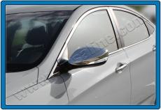 Накладки на зеркала (2 шт, нерж.) - Hyundai Elantra (2011+)