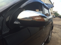 Накладки на зеркала (2 шт, сталь) - Nissan Qashqai (2007-2010)