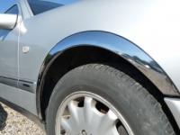 Накладки с нержавейки на колесные арки (4шт.) - Nissan ALMERA (2000-2006)