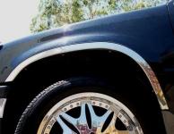 Накладки с нержавейки на колесные арки (4шт.) - Toyota HIGHLANDER (2000-2007)