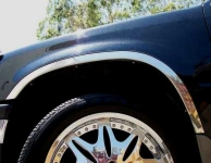 Накладки с нержавейки на колесные арки (4шт.) - Mitsubishi Pajero Pinin (98-04)