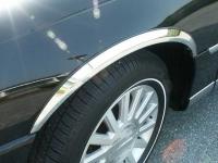 Накладки с нержавейки на колесные арки (4шт.) - Hyundai SANTA FE (2006-2009)