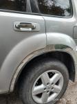 Накладки с нержавейки на колесные арки (4шт.) - Nissan X-TRAIL (2002-2007)