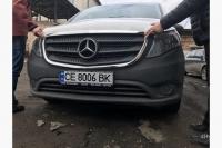 Обводка решетки (2 шт, нерж) - Mercedes Vito W447 (2014+)