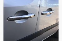 Накладки на ручки (4 шт, нерж) - Renault Kangoo (2008+)