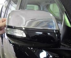 Накладки на зеркала 2012+ (2 шт, нерж) - Toyota LC 200