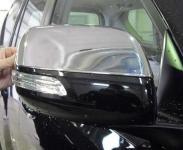 Накладки на зеркала (2 шт, нерж.) - Toyota LC 150 Prado