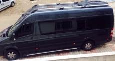 Рейлинги Shark (черные ножки) - Mercedes Sprinter W906