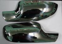 Накладки на зеркала (2 шт, нерж) - Renault Megane II (2004-2010)