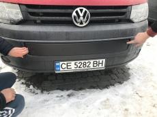 Зимняя накладка на нижнюю решетку - Volkswagen T5 рестайлинг (2010-2015)