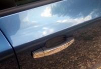 Накладки на ручки УЗКИЕ (4 шт., нерж., Omsa) - Opel Zafira