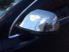 Накладки на зеркала (2 шт., нерж.) - Audi Q7 (2005+)