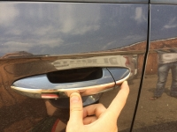 Накладки на ручки узкая модель (4 шт, нерж) - Volkswagen Passat СС (2008+)