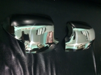 Накладки на зеркала (2 шт, нерж.) - Renault Logan MCV (2013+)