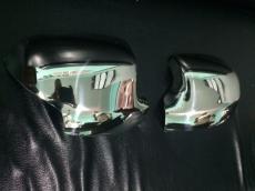 Накладки на зеркала (2 шт., нерж.) - Renault Sandero (2013+)