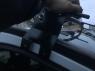 Козырек черный (на кронштейнах) - Renault Trafic (2001-2014)
