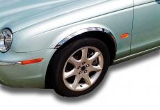 Накладки с нержавейки на колесные арки (4шт.) - Jaguar X-Type (01-09)