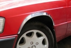 Накладки с нержавейки на колесные арки (4шт.) - Mercedes W201 190 ( 1989-1993)