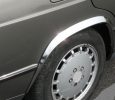Накладки с нержавейки на колесные арки (4шт.) - Mercedes W201 190 (1983-1988)