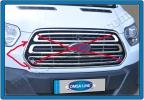 Обводка решетки (2 шт, нерж) - Ford Transit (2014+)