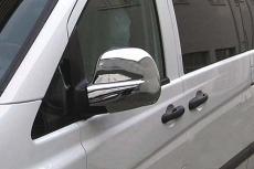 Накладки на зеркала 2004-2010 (2 шт, нерж) - Mercedes Vito W639