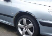 Накладки с нержавейки на колесные арки (4шт.) - Peugeot 607 (00-10)