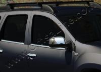Накладки на зеркала (2 шт, нерж) - Nissan Terrano (2014+)