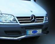 Накладки на кант решетки радиатора (2002-2006, 5 частей, нерж) - Mercedes Sprinter W901