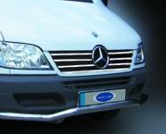 Накладки на кант решетки радиатора (2000-2002, 7 частей, нерж) - Mercedes Sprinter W901