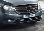 Накладки на решетку бампера (2 шт, нерж) - Mercedes Vito W447(2014+)