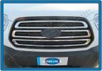 Накладки на решетку (3 шт, нерж) - Ford Transit (2014+)