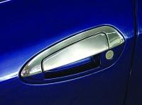 Накладки на дверные ручки с верхней частью (4 дверн., нерж) - Grande Punto (2006+)