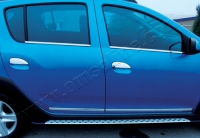 Накладки на ручки (4 шт., нерж.) - Renault Logan III (2013+)