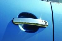 Накладки на ручки (2 шт, нерж) - Volkswagen Fox (2006+)