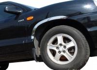 Накладки с нержавейки на колесные арки (4шт.) - Hyundai SANTA FE (2000-2006)