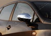 Накладки на зеркала (2 шт, нерж) - Seat Ibiza (2010+)