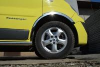 Накладки с нержавейки на колесные арки (к-т.,длинные) - Renault Trafic (2015+)