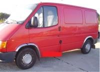 Накладки с нержавейки на колесные арки (4шт.) - Ford TRANSIT (1994-2001)