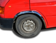 Накладки с нержавейки на колесные арки (4шт.) - Ford TRANSIT (2001-2006)