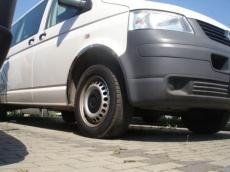 Накладки с нержавейки на колесные арки (6шт.) - Volkswagen T5 TRANSPORTER (2003-2009)
